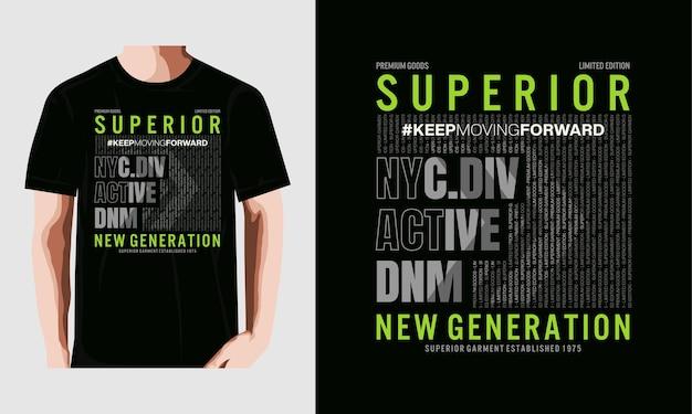 Superieure generatie ontwerp vector typografie t-shirt premium vector