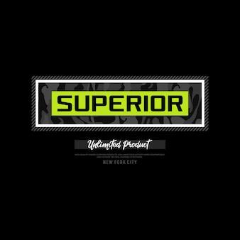 Superieure typografie-ontwerpaccessoires voor tshirt premium vector premium vector