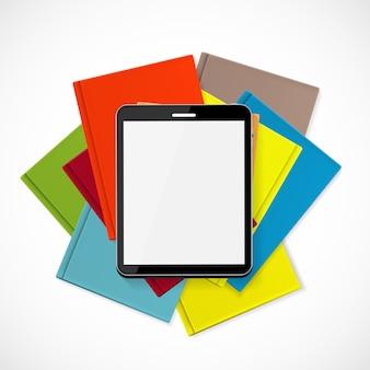 Superioriteit ebook over paper books concept-illustratie
