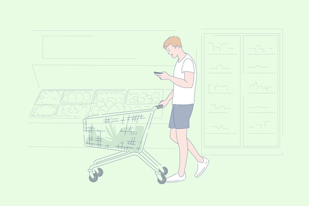 Supermarkt boodschappen kruidenier