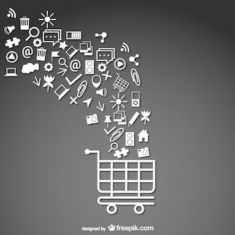 Supermarkt cart icon template