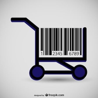 Supermarkt grafiek barcode begrip