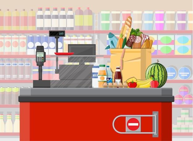 Supermarkt met diverse producten