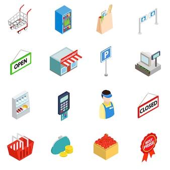 Supermarkt pictogrammen instellen