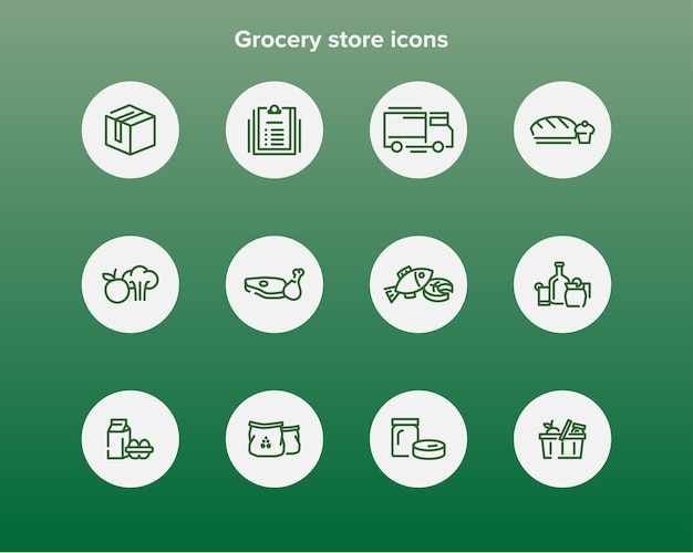 Supermarkt pictogrammen