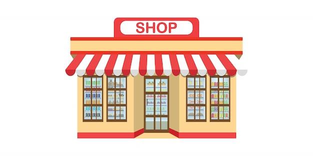Supermarkt supermarkt pictogram geïsoleerd op wit.