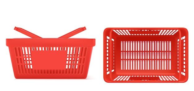 Supermarkt winkelwagentje instellen illustratie