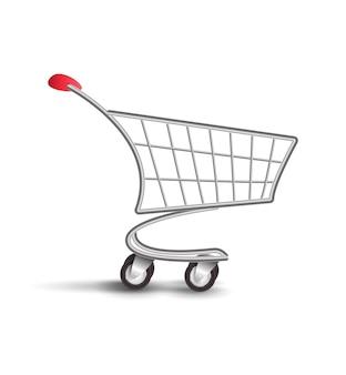 Supermarkt winkelwagentje
