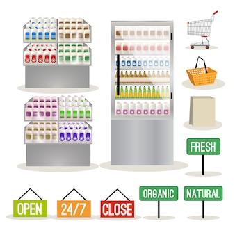 Supermarktplanken instellen