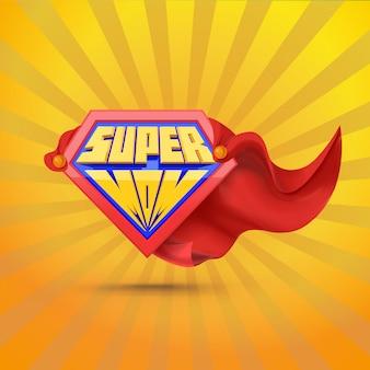 Supermoeder. supermom-logo. moederdag concept. moeder superheld.