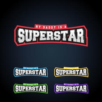 Superstar power volledige typografie