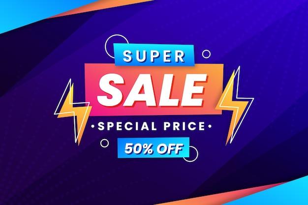 Superverkoop met speciale prijsachtergrond
