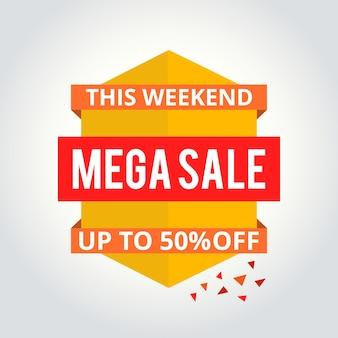 Superverkoop poster, banner. grote verkoop, goedkeuring. vector illustratie.