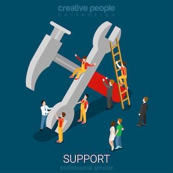 Support service professional garantie onderhoudsconcept