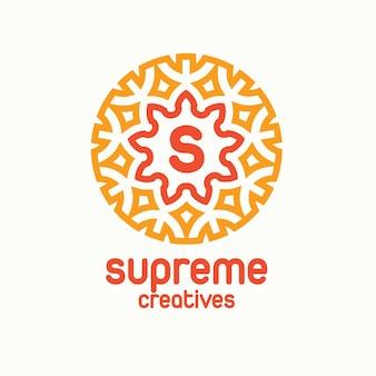 Supreme creative floral-logo