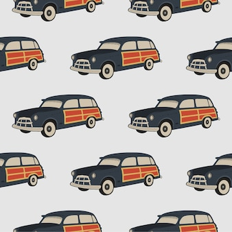 Surf auto naadloze patroon.