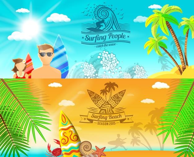 Surf banner horizontaal