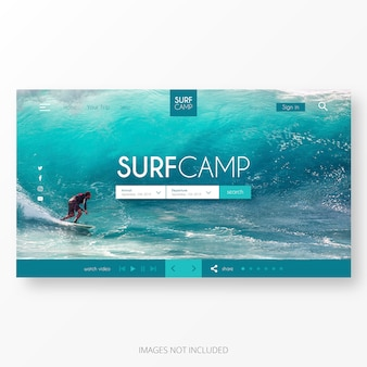 Surf landing page template