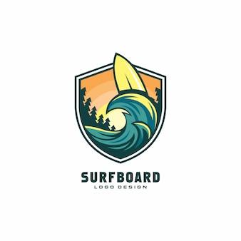 Surfboard logo ontwerp
