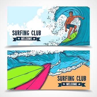 Surfen banners instellen