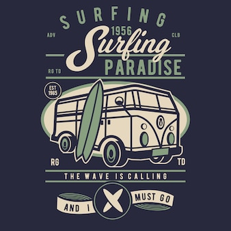 Surfen in het paradijs