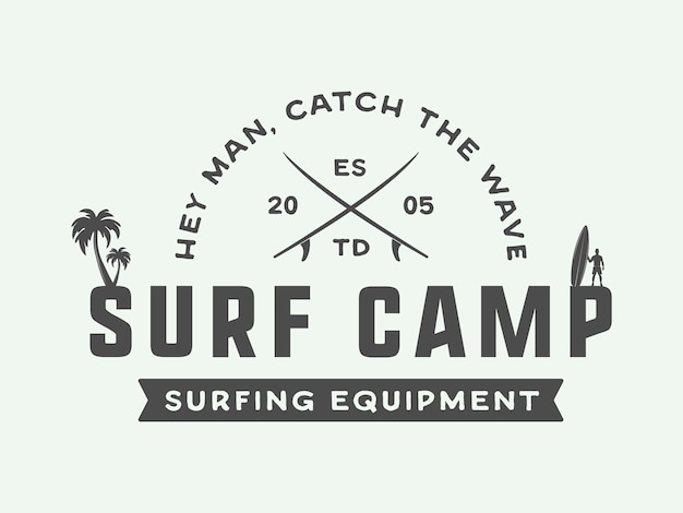 Surfen logo, embleem
