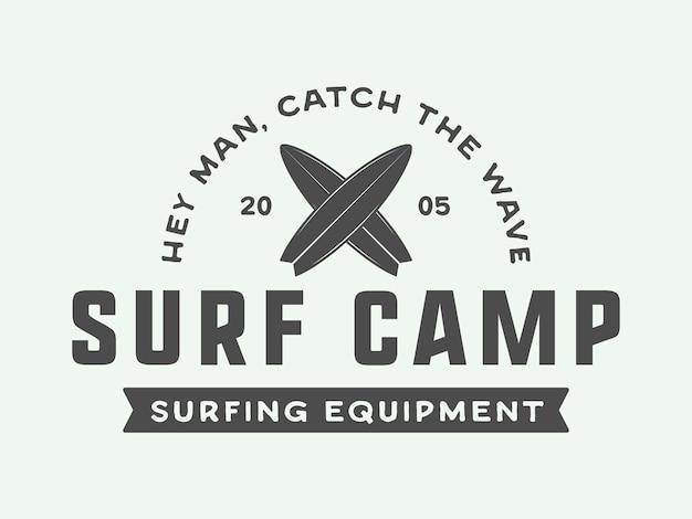 Surfen logo's, labels, badges