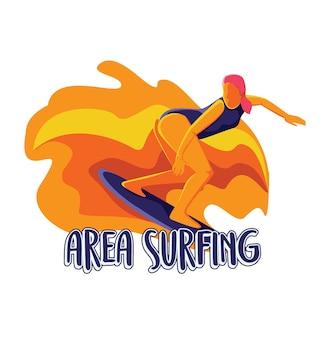 Surfen op het terrein