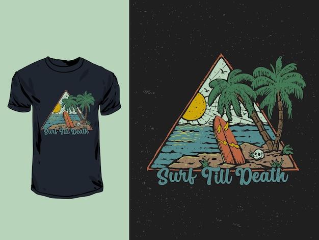 Surfen tot de dood vintage
