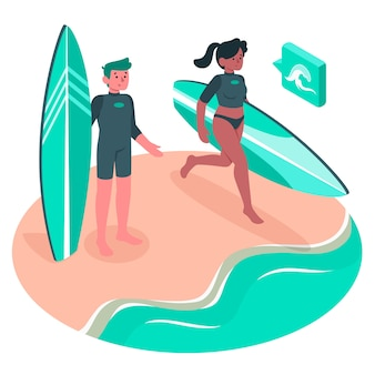 Surfer concept illustratie