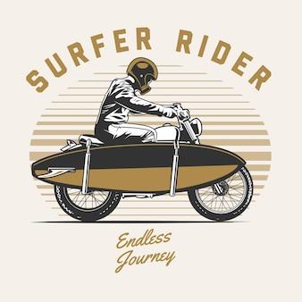 Surfer motorrijder