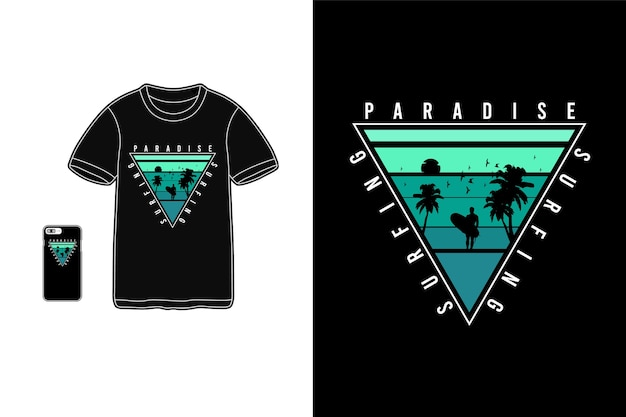 Surfparadijs tshirt merchandise silhouet mockup