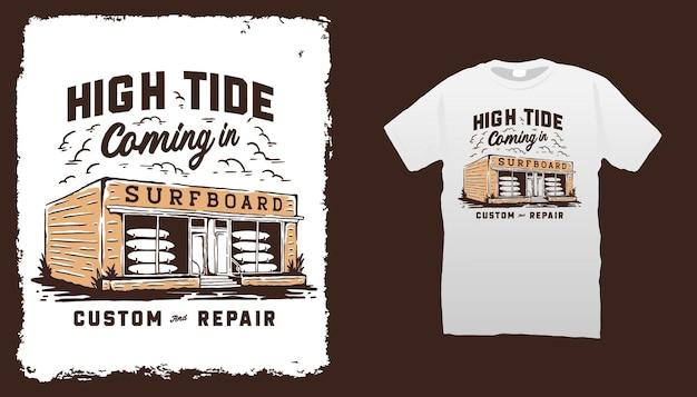 Surfplank winkel illustratie