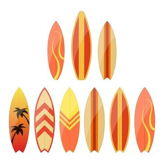 Surfplankillustratie op witte achtergrond wordt geïsoleerd die