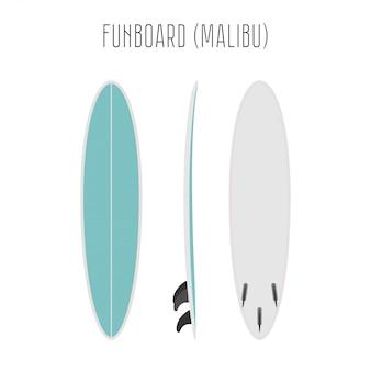 Surfplezierbord met drie kanten
