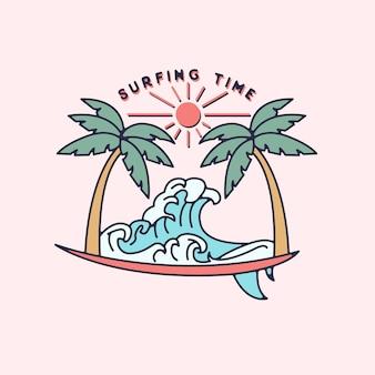 Surftijd monoline-ontwerp