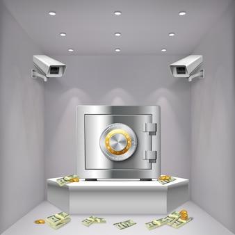 Surveillance camera realistische achtergrond