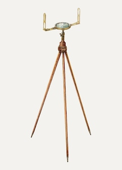 Surveyor's kompas illustratie vector, geremixt van het kunstwerk van archie thompson