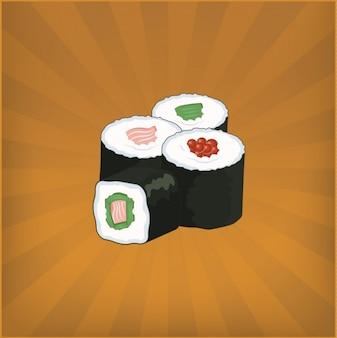 Sushi achtergrond ontwerp