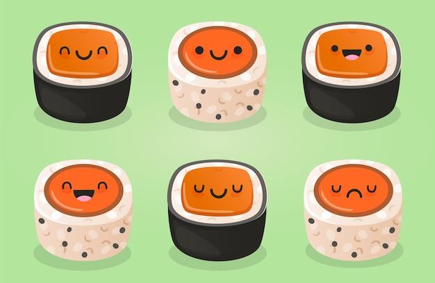 Sushi kawaii schattig element
