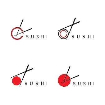 Sushi logo-sjabloon