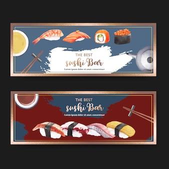 Sushi restaurant banner