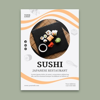 Sushi restaurant folder sjabloon