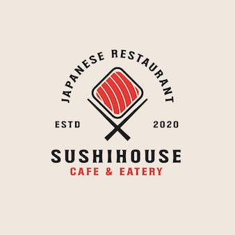 Sushi restaurant logo sjabloon