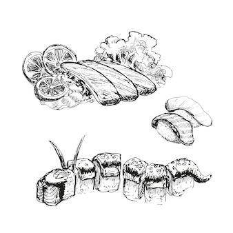 Sushi tekening
