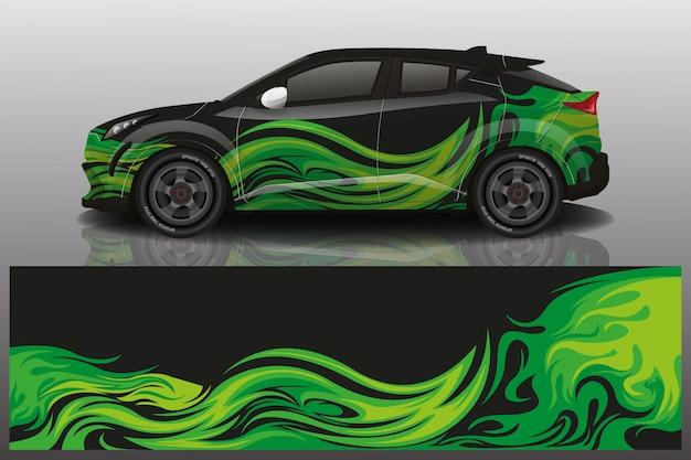 Suv auto sticker wrap illustratie