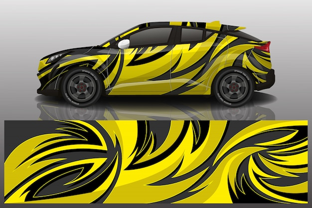 Suv auto sticker wrap illustratie