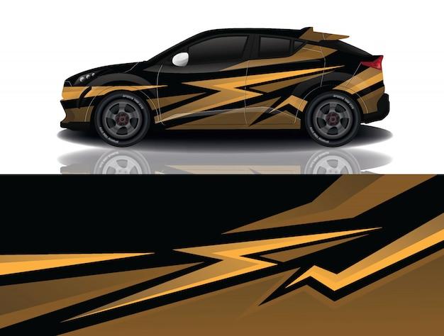 Suv auto sticker wrap ontwerp vector