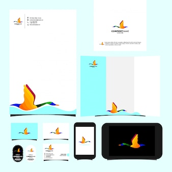 Swan logo template briefpapier