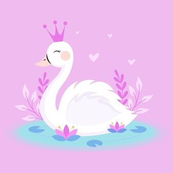 Swan princess-thema